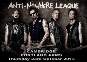 The Anti-Nowhere League + Slageij + Overload + The Tickturds @ The Portland Arms | Cambridge | United Kingdom