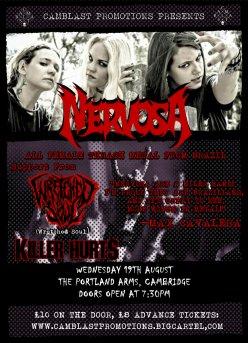 CamBlast Promotions: Nervosa + Wretched Soul + Killer Hurts